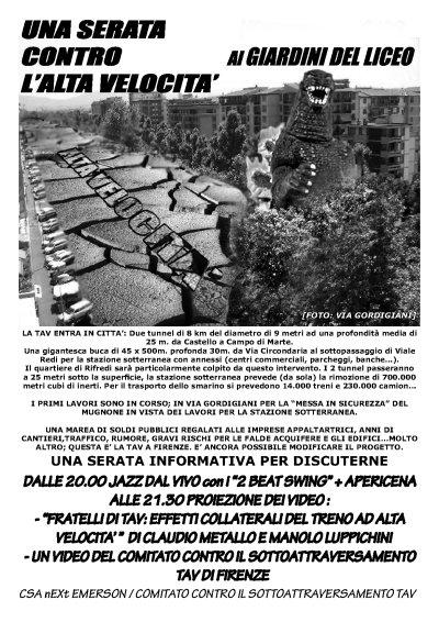 Mercoledi' 18 giugno ai giardini di via Gordigiani